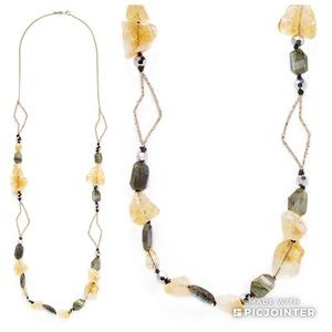 AB Elements Abstract Petal Strand Necklace